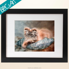 Lovely pet cat oil painting for lobby decoration