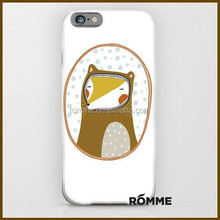 Creative Illustration Pattern high quality plastic mobile phone case for iphone 6
