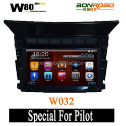 Digital Touch Screen Car DVD Player With Mirror-link GPS Navigation Radio Bluetooth For Pilot