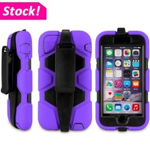 Heavy Duty Rugged Hard Case Cover w/Clip Holster For iPhone 4 5 6