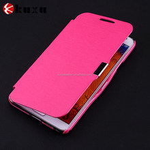 Large quatity promotion leather mobile phone case for Samsung S5
