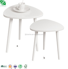 SH Wood round Modern Living Room Furniture nesting coffee Table for Side Table