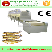Stainless steel industrial fully automatic microwave fish fillet drying machine