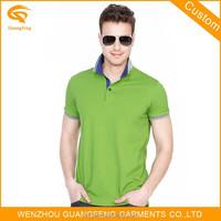 Contrast Neck and Sleeve Plain Polo Shirt