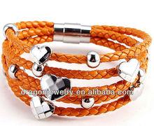 2012 jewelry fashion bracelet leather cord jewelry wholesale