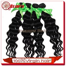 Double weft indian 100% unprocessed hair, real virgin wavy indian hair cheap
