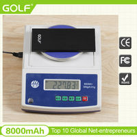 GOLF new design super thin metal power bank ultra thin polymer batteries portable charger for mobile
