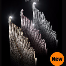 Luxury fashion 3D relief lovestar aluminum metal case for iphone 6 6 plus, angel wing phone case for iphone 6 plus