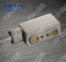 magnetic power connector with pogo pin and USB cable