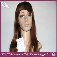 High quality cheap machine made long KANEKALON blonde synthetic fiber women's wig