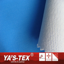 Blue Embossed Stretch Fabric White Knitting Textil Fabric Bonded Fabric For Sportswear
