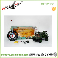 2015 Cheap price!4-way Remote Control Military Truck jeep car toy with light and sound Electric power car toy