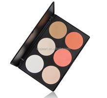 6 colormineral makeup contour blush palette
