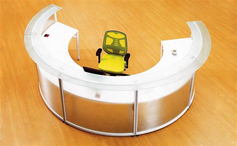 semi cercle bureau bureau pour r ceptionniste de moiti forme circulaire cd 5512 comptoirs. Black Bedroom Furniture Sets. Home Design Ideas
