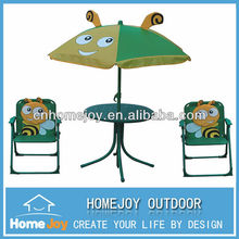High quality colorful kids folding table and chair with cute animal