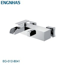 Contemporary wall mounted waterfall discount bathtub faucets