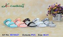 2015 Coolking PVC sandals girls sandals Classic Shoe Manufacturer shoe new design Flattie summer sandals 2015