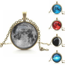 Hot sale bright and colorful planet fashion necklace