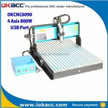 New products 2015 dependable 6090 cnc router with 4 axis in stock payment via paypal