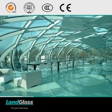 LandGlass ISO9001/CCC Certificate Architectural Tempered Curved Glass