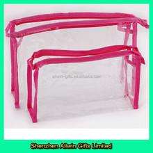 Factory Made Wholesale Cosmetic PVC Bag,Makeup Case Clear PVC Case