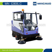 China supply All closed ride-on vacuum road sweeper