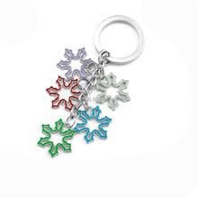 China Wholesale Brand New Creative Christmasman Snowflake Christmas Stocking Christmas Keychain