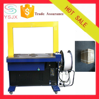 Arched shape automatic PP band cardboard strapping machine