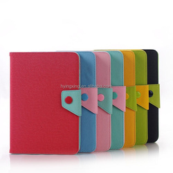 New design Couple Color tablet Leather Case for iPad mini 2