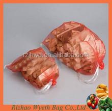 hdpe firewood packing drawstring net mesh bags