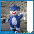 2015 vivid diseño de dibujos animados inflables, inflable gato azul