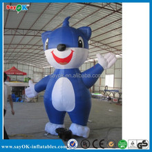 2015 Vivid design inflatable cartoon, inflatable blue cat