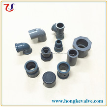 Africa Market Grey DIN Plastic PVC Water Supply Pipe Fittings