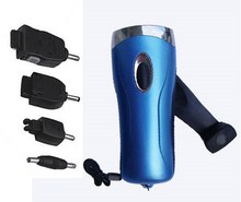 portable rechargeable/dynamo hand crank emergency led light with phone charging