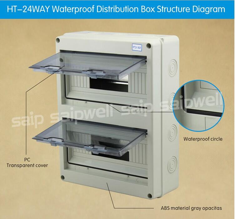 Wall Mount Circuit Breaker : New plastic abs pc waterproof circuit breaker box buy