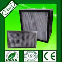 Glue Aluminum Frame Hepa Filter Fiber Glass Media Air Filter