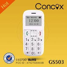 SOS senior mobile phone, GPS/GSM/GPRS GS503