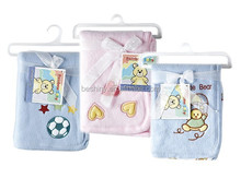 100*75cm 170g double-sided plush+170g interlock baby children blanket