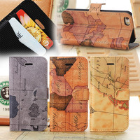 Mobile phone case For iphone 5S case,Luxury map PU leather case for iphone 5/5S,business style for iphone 5S