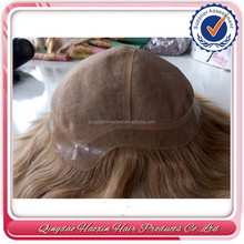 Super invisible thin skin women human hair toupee