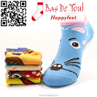 wholesale newest fashion thin cute animal combed cotton socks