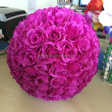 wholesale artificial rose flower ball for wedding hanging wall home decoration
