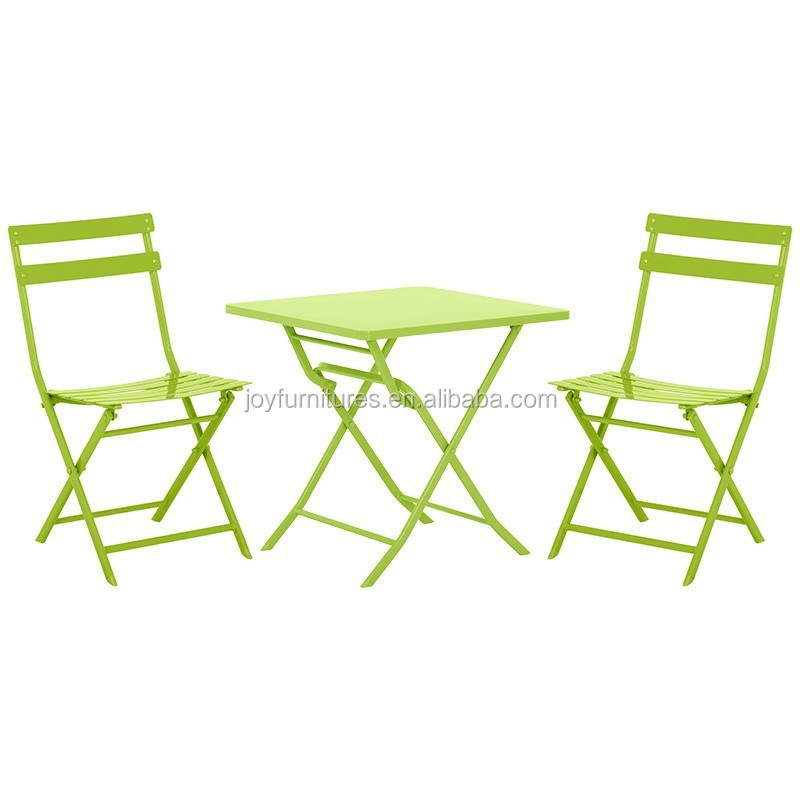 Folding Table And Chair Indoor Outdoor Cheap Steel Bistro