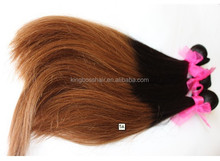 ombre tone 100% vigin brazilian human hair weft hand tied