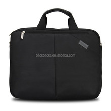 hot sale women men black nylon laptop bag case notebook 15 inch computer shoulder bags