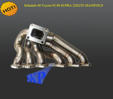 HORARIO DE 40 DE ACERO TWIN TURBO Colector 93-98 TOYOTA 2JZ GTE JZA80 SUPRA MK4 (Para: Toyota Supra)