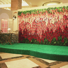 artificial wall flower violet flower wedding decoration with low MOQ