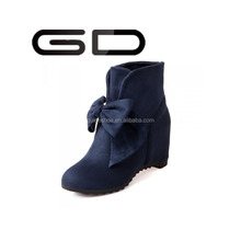leather and PU italian suede cheap boots plus big size shoes