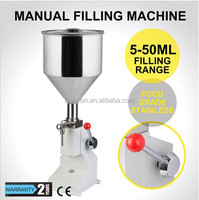 Stainless steel Small shampoo lotion detergent paste food grade Manual filling machine for cream