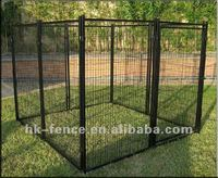 "24"" black 8 pen exercise security dog kennel"